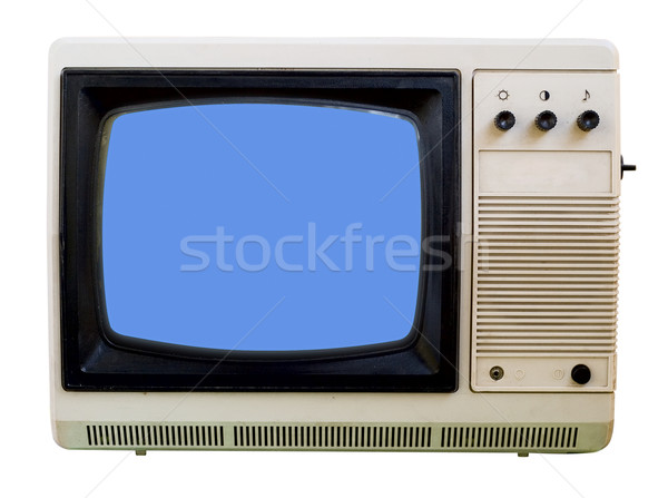 Stock photo: Old small TV set isolated