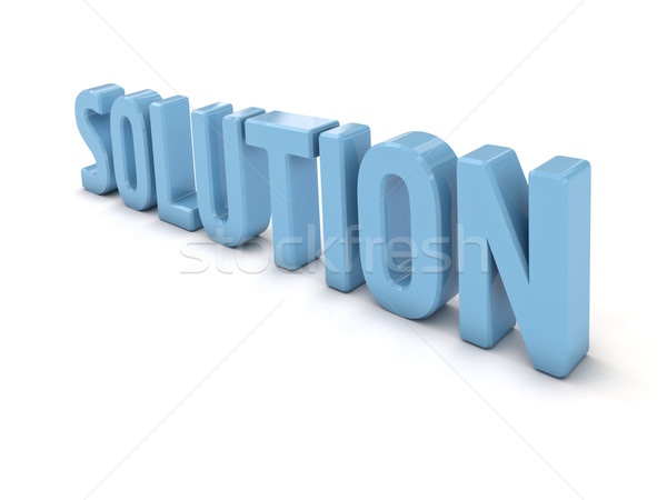 Solution on white Stock photo © Supertrooper