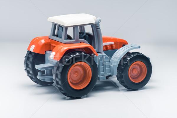 子供 プラスチック おもちゃ トラクター 小 赤 ストックフォト © Supertrooper