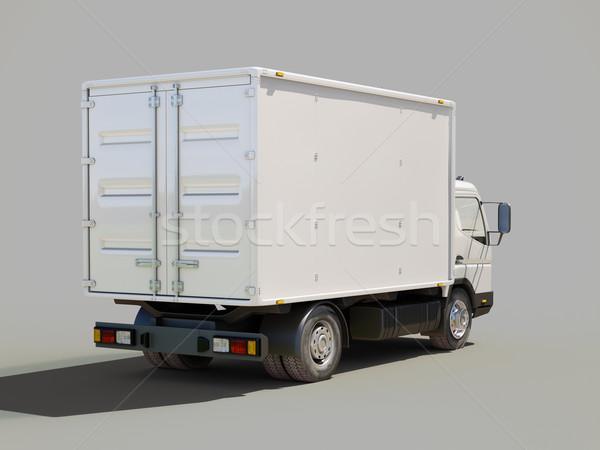 Witte commerciële vrachtwagen grijs kleur vervoer Stockfoto © Supertrooper