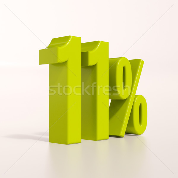 Percentage teken procent 3d render groene korting Stockfoto © Supertrooper