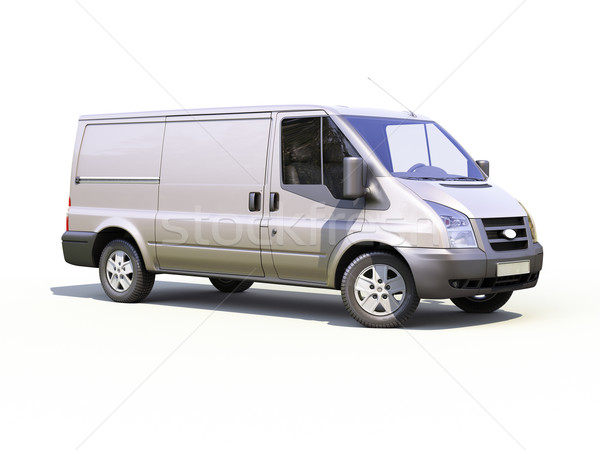 Gray commercial delivery van Stock photo © Supertrooper