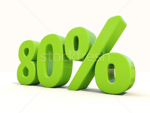 до 80 процент икона белый восемьдесят Сток-фото © Supertrooper