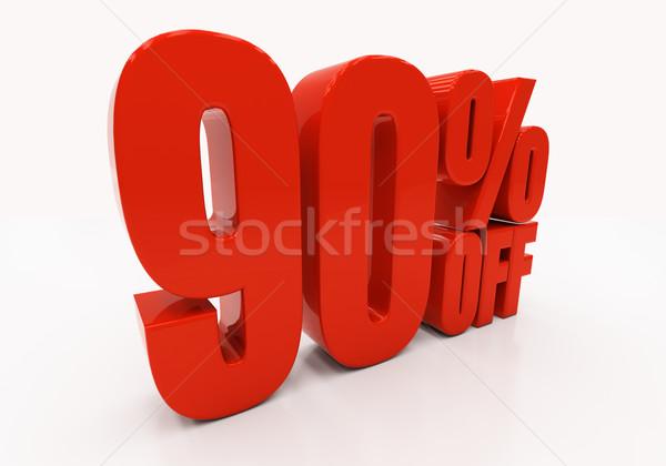 3D 90 percent Stock photo © Supertrooper