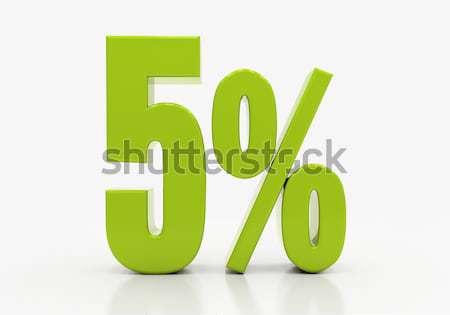 процент знак 3D скидка изолированный белый Сток-фото © Supertrooper