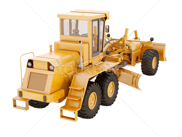 Modern grader isolated Stock photo © Supertrooper