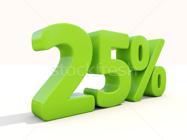 25 percentage icon witte twintig Stockfoto © Supertrooper