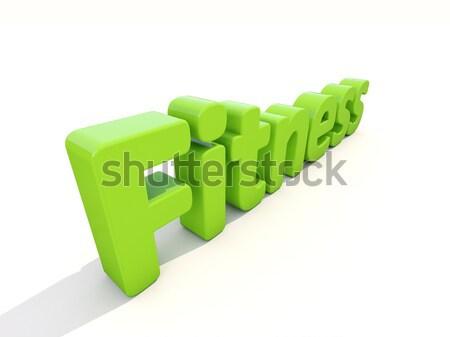 3D kelime uygunluk ikon beyaz 3d illustration Stok fotoğraf © Supertrooper