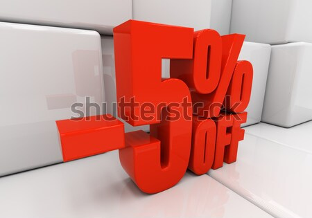 3D процент скидка 3d иллюстрации красный Сток-фото © Supertrooper