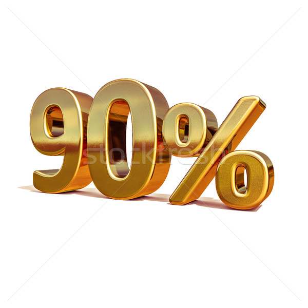 3d Gold 90 Ninety Percent Discount Sign Stock photo © Supertrooper