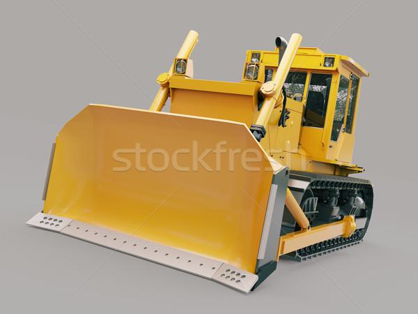 ブルドーザー グレー 建設 オレンジ 色 ストックフォト © Supertrooper