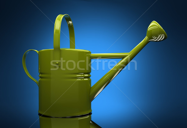 Green garden watering can Stock photo © Supertrooper