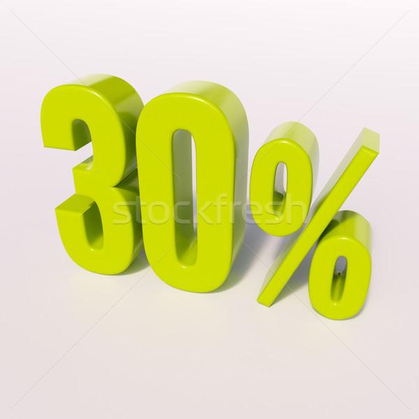 Stok fotoğraf: Yüzde · imzalamak · 30 · yüzde · 3d · render · yeşil