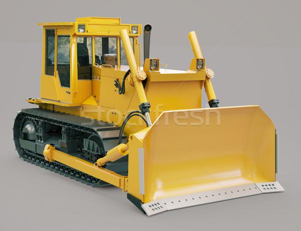 Heavy crawler bulldozer  Stock photo © Supertrooper