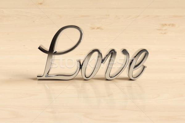 Wording love sign Stock photo © Supertrooper