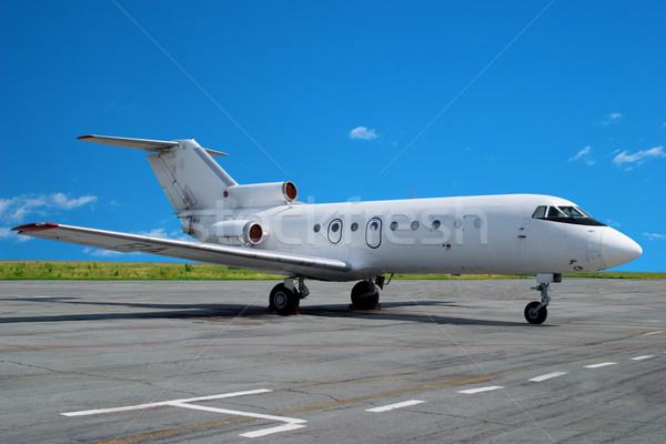 Empresa de pequeno porte jato avião aeroporto negócio acelerar Foto stock © Supertrooper