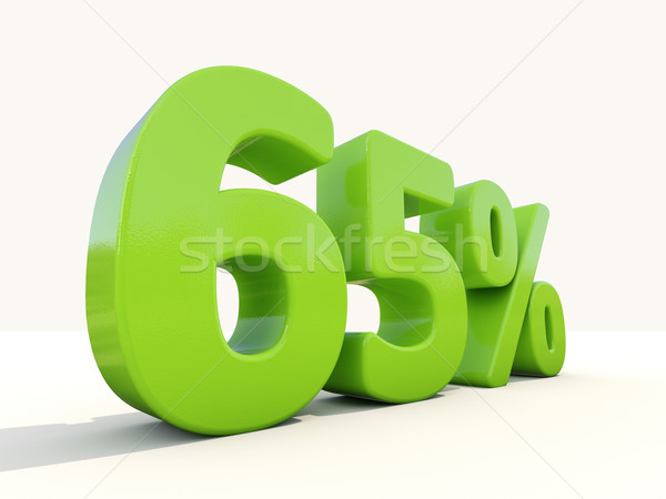 65% percentage rate icon on a white background Stock photo © Supertrooper