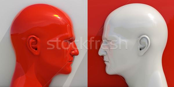 Afbeelding confrontatie twee man ruzie zakenman Stockfoto © Supertrooper
