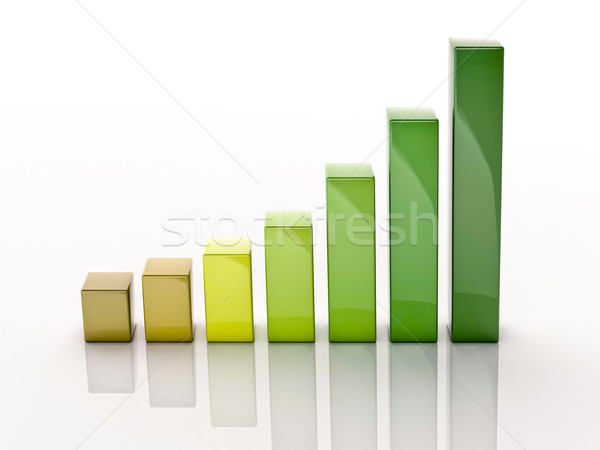 3d column chart Stock photo © Supertrooper