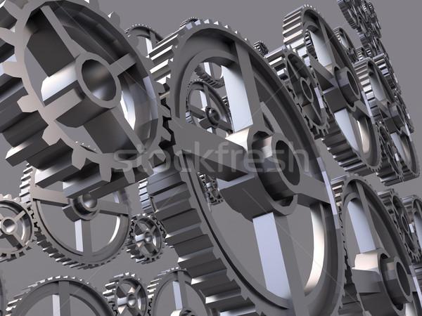 Engrenagem cinza trabalhar tecnologia metal Foto stock © Supertrooper