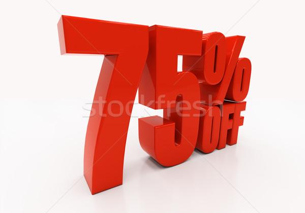 3D 75 percent Stock photo © Supertrooper