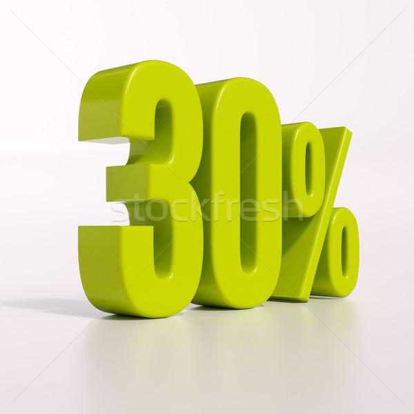 パーセンテージ にログイン 30 パーセント 3dのレンダリング 緑 ストックフォト © Supertrooper