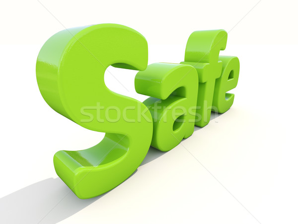 3d word safe Stock photo © Supertrooper