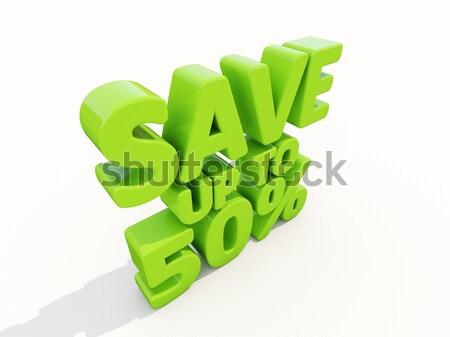 Opslaan omhoog markt voorraad verkoop Stockfoto © Supertrooper