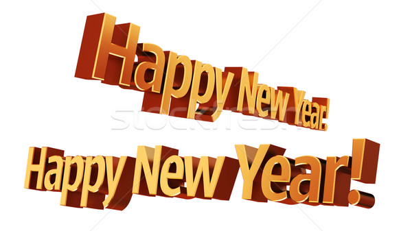 Happy New Year 3D text Stock photo © Supertrooper