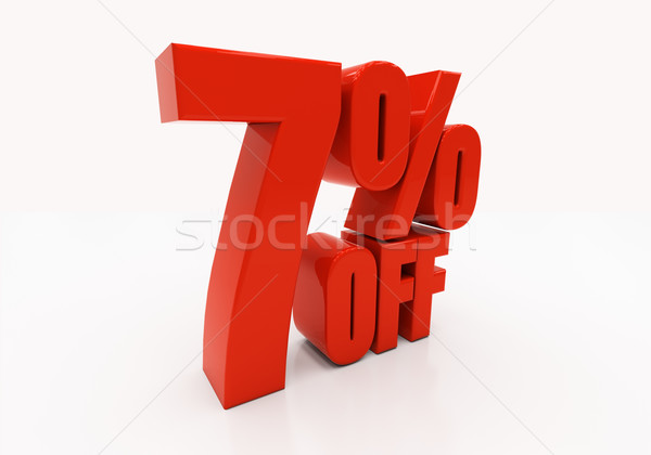 3D 7 percent Stock photo © Supertrooper