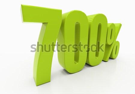 3D pour cent réduction 3d illustration vert Photo stock © Supertrooper