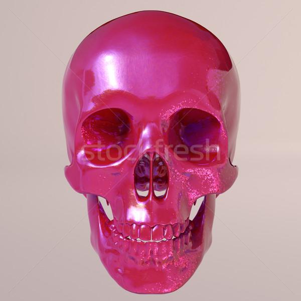 Red shine skull Stock photo © Supertrooper