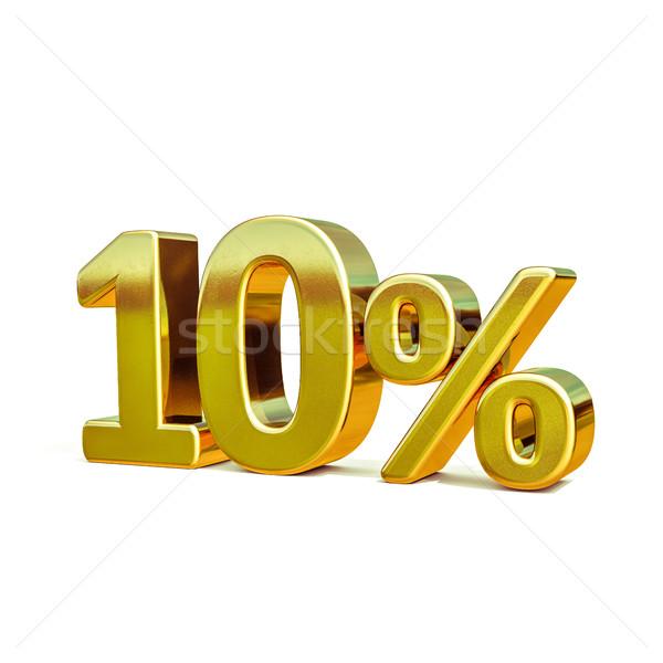 3D 金 10 10 パーセント 割引 ストックフォト © Supertrooper