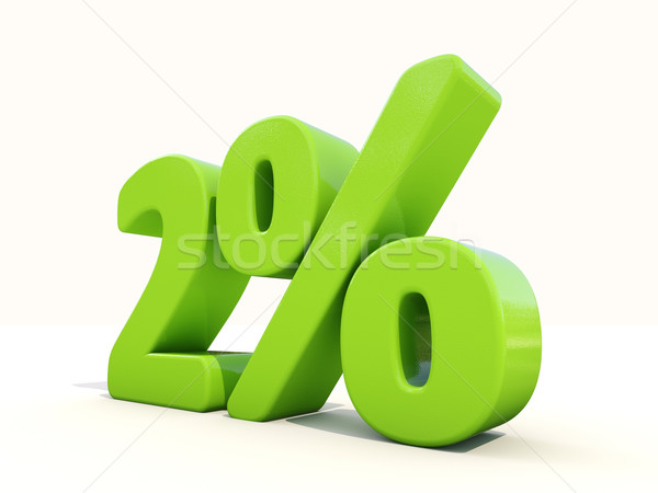 2% percentage rate icon on a white background Stock photo © Supertrooper