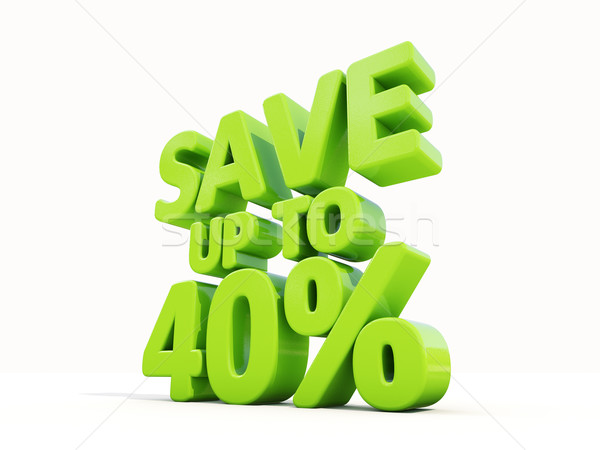 Save up to 40% Stock photo © Supertrooper