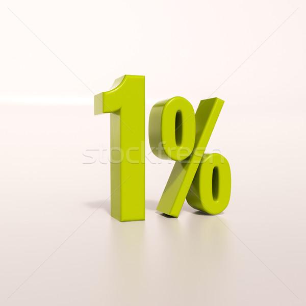 Percentage sign, 1 percent Stock photo © Supertrooper