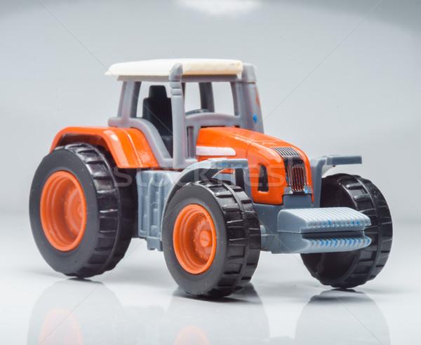 Mezőgazdasági játék traktor közelkép kicsi piros Stock fotó © Supertrooper
