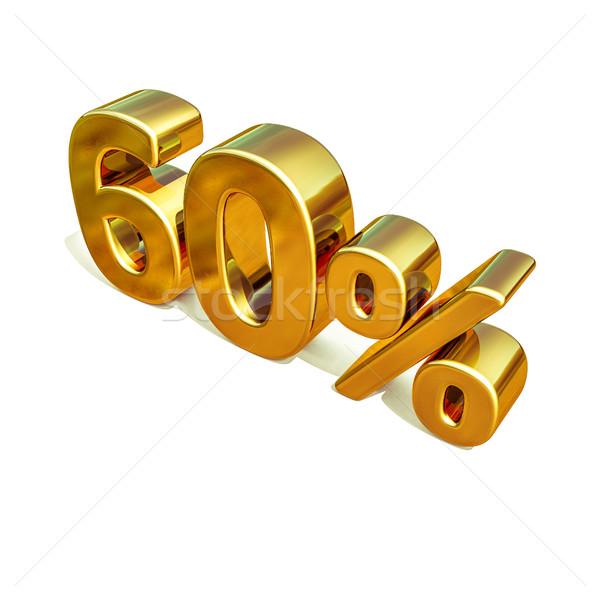 3D 金 60 60 パーセント 割引 ストックフォト © Supertrooper