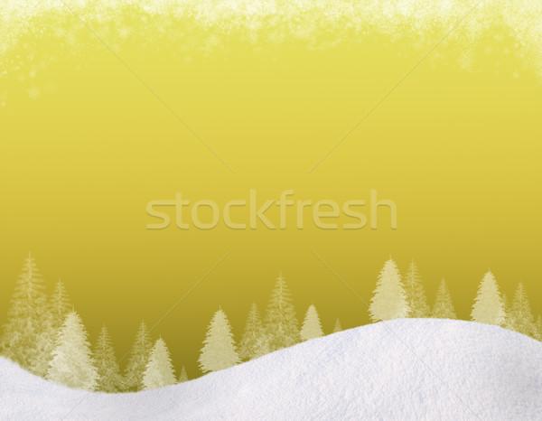 Сток-фото: зима · Рождества · снизить · холмы · ель