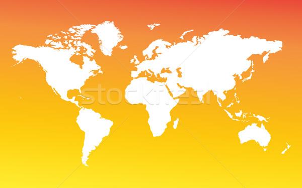 Mapa inteiro mapa do mundo mundo Foto stock © Supertrooper