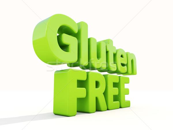 Stock fotó: 3D · gluténmentes · ikon · fehér · 3d · illusztráció · étel