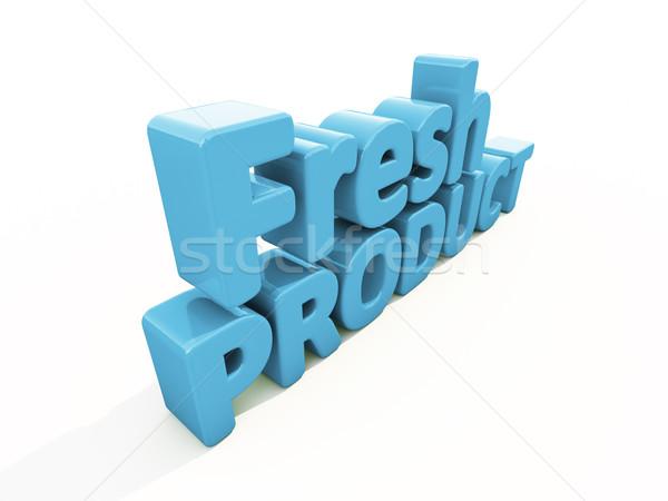 3D 新鮮な 製品 アイコン 白 3次元の図 ストックフォト © Supertrooper