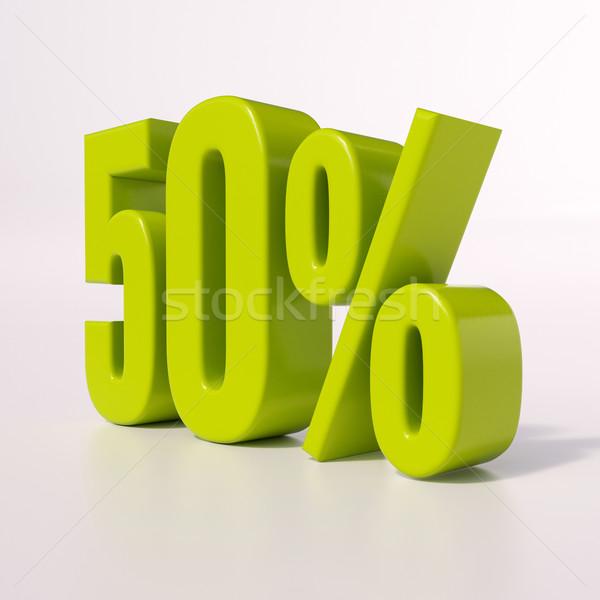 Percentage sign, 50 percent Stock photo © Supertrooper