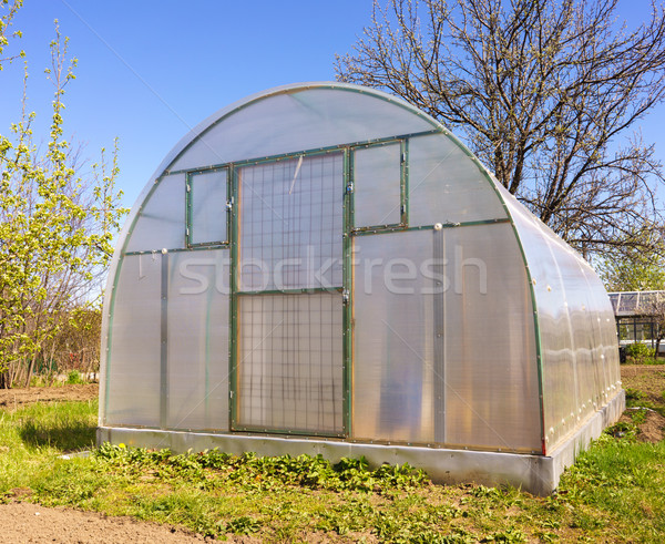 Modern Polycarbonate Greenhouse Stock photo © Supertrooper