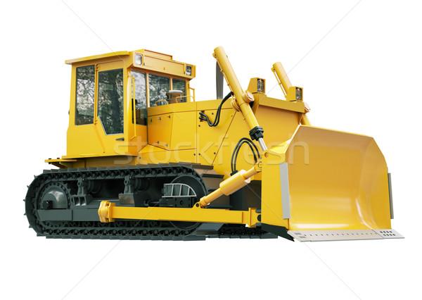 Heavy crawler bulldozer  isolated  Stock photo © Supertrooper