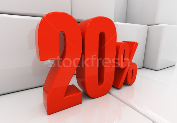 3D 20 percent Stock photo © Supertrooper