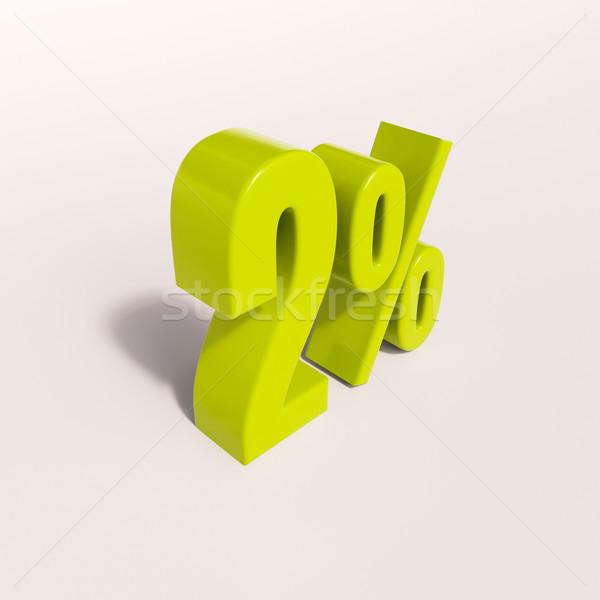 Percentage sign, 2 percent Stock photo © Supertrooper