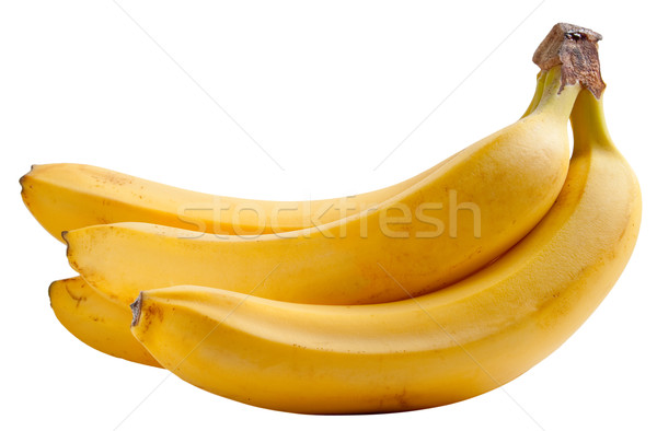 Stock photo: Yellow ripe banana isolated