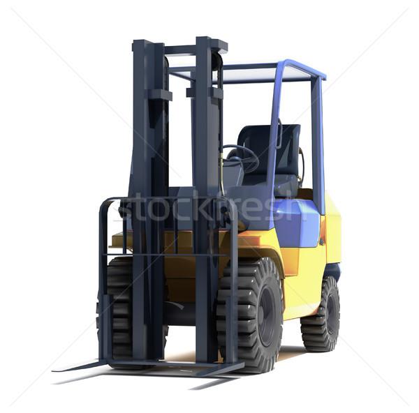Forklift loader close-up Stock photo © Supertrooper