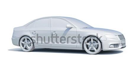 Kortárs luxus autó izolált fehér üzlet Stock fotó © Supertrooper